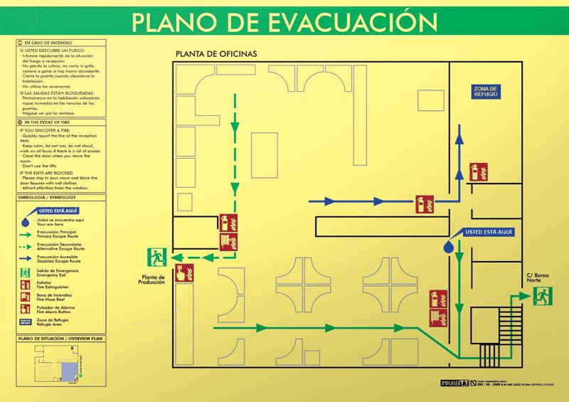 Balizamientos · Plano de evacuación