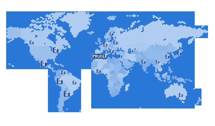 mapa exportación IMPLASER