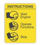 Pegatinas de instrucciones para maquinaria