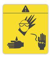 Pegatinas de prevención para maquinaria