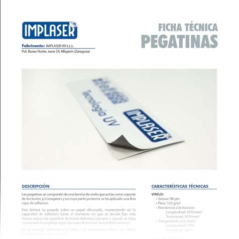 Ficha técnica pegatinas publicitaias