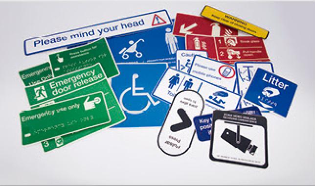 Planos evacuación y señalización en altorrelieve y braille