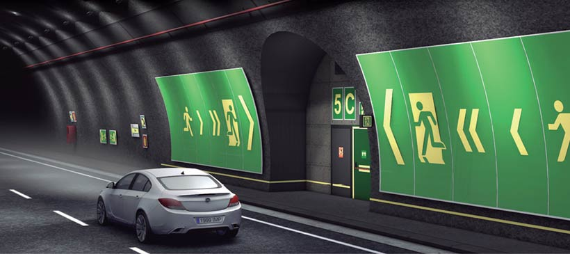 Señalización de túneles carreteros Implaser