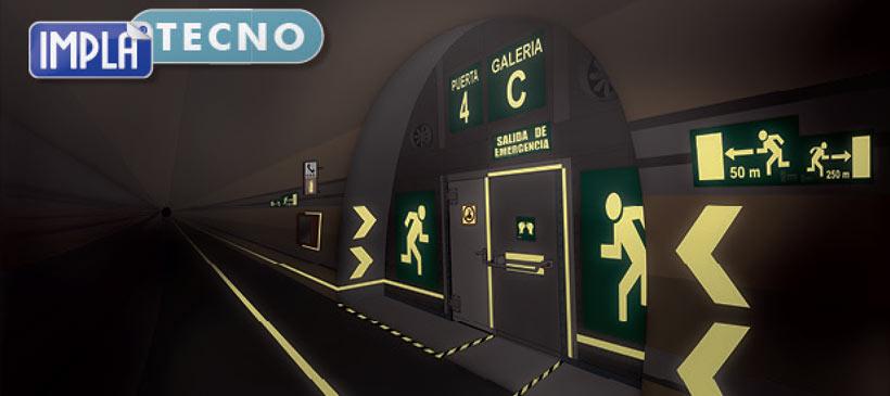 Señalización túneles ferroviarios Implaser