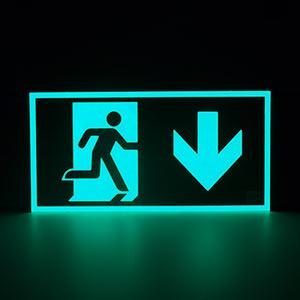 Señal de evacuación luminiscente ISO