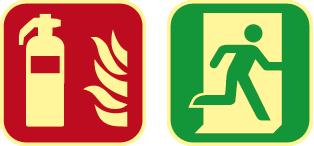 señales extinción y evacuación